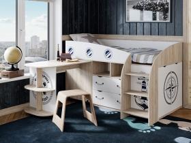 Кровать комбинированная Немо Дуб сонома-Белый