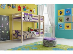Детская кровать Соня двухъярусная с прямой лестницей Вариант 9