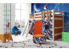 Детская кровать Соня полувысокая с наклонной лестницей Вариант 6