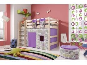 Детская кровать Соня полувысокая с прямой лестницей Вариант 5