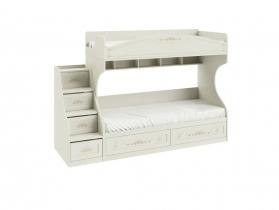 Детская Лючия Двухъярусная кровать с лестницей 1711х2044х839 спальное место 80х200