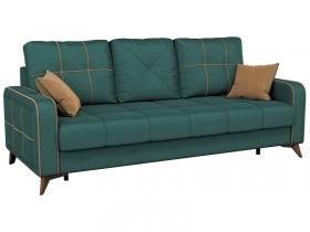 Диван-кровать Черри арт. ТД-177 сине-зеленый