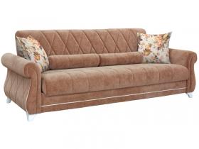 Диван-кровать Роуз арт. ТД-117-1 коричневый