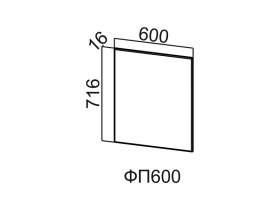 Фасад для посудомоечной машины ФП600 Вектор СВ 600х716х16