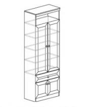 Гостиная Инна Шкаф для книг 611 800х368х2248. Полки - ДСП