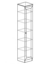 Гостиная Инна Шкаф для посуды 602 400х368х2248. Фасад - стекло. Полки - стекло