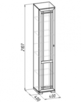 Гостиная Шерлок 8 Шкаф для белья 400х400х2107