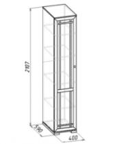 Гостиная Шерлок 9 Шкаф для белья 400х590х2107