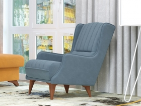 Кресло для отдыха Болеро арт. ТК-170 серо-голубой