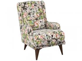 Кресло для отдыха Болеро арт. ТК-174 розово-серые цветы