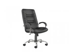 Кресло для руководителя Minister steel chrome PU01 черное