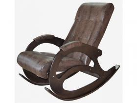 Кресло-качалка К 5-1 кожзам крокодил коричневый