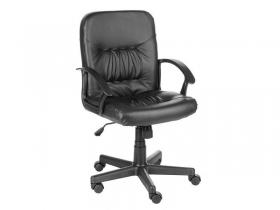 Кресло компьютерное Чип Кожзам черный