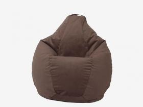 Кресло-мешок Груша средняя велюр шоколад