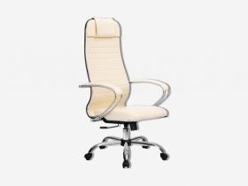 Кресло Метта Комплект 6.1 кожзам бежевый-хром