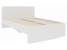 Кровать 1200 Абрис белый глянец ПМ-332.02 исп.2