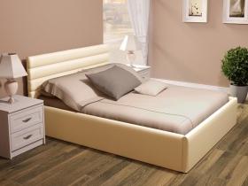 Кровать 1,6 Альба с ПМ Реал Лайт Беж