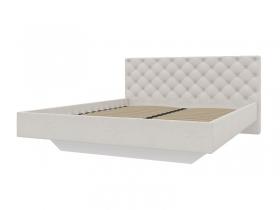 Кровать 1600 с мягкой обивкой Скания ИП 001.02-01 велюр бежевый