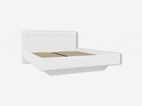 Кровать 1600 с мягкой обивкой Скания ИП 001.03-01 кожзам белый