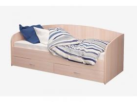 Кровать 800 Соло-Софа 1 с ящиками дуб млечный