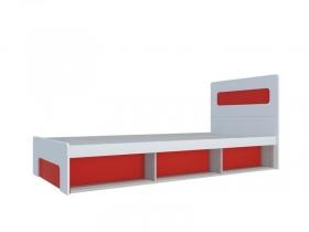 Кровать 900 с подъемным механизмом Палермо-Юниор с красными вставками