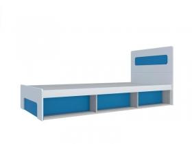 Кровать 900 с подъемным механизмом Палермо-Юниор с синими вставками