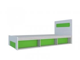 Кровать 900 с подъемным механизмом Палермо-Юниор с зелеными вставками