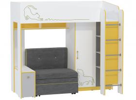 Кровать-чердак Альфа 11.20 с мягким элементом