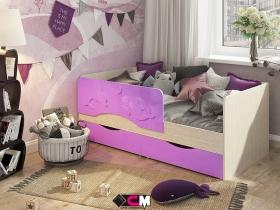 Кровать детская Алиса Сирень металлик