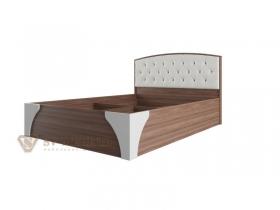Кровать двухспальная 1600 Лагуна-7 с пуговицами