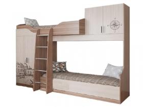 Кровать двухъярусная Город