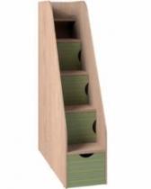 Кровать двухъярусная Калейдоскоп Тумба лестница 406х1200х1765