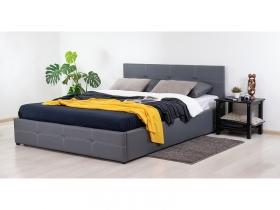 Кровать двуспальная Синди с подъемным механизмом серый