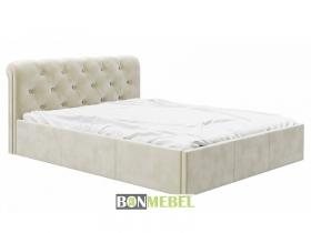 Кровать Калипсо 1600 с ПМ вельвет беж