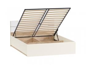 Кровать Лея 11.32 с подъемным механизмом дуб эндгрейн элегантный-миндаль