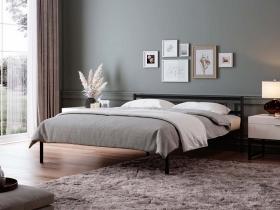 Кровать Мета двуспальная разборная черная