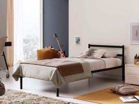 Кровать Мета односпальная разборная черная