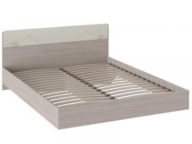 Кровать Мишель Ясень шимо-Бежевый фон глянец с рисунком