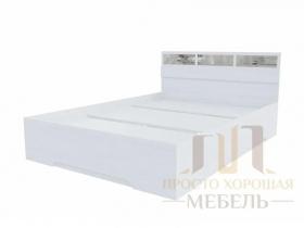 Кровать Николь-1 со стеклами 1400х2000 ШхВхГ 1432х850х2032 мм