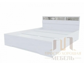 Кровать Николь-1 со стеклами 1600х2000 ШхВхГ 1632х850х2032 мм
