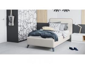 Кровать односпальная Миа 90 с подъемным механизмом серо-бежевый