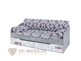 Кровать с ящиками Грей Спальное место 900х2000 ШхВхГ 2032х700х950 мм