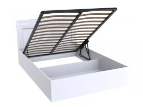 Кровать Тиффани Эко Белый снег 1600 с подъемным механизмом