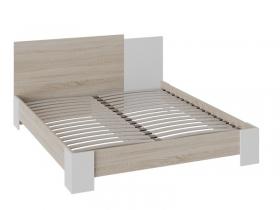 Кровать Валери 1600х2000 Дуб сонома-Белый ясень
