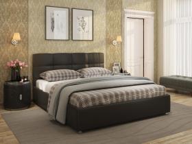 Кровать Жаклин Экокожа Ideal 318 Темно-коричневый