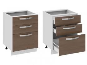 Кухня Бьюти Шкаф нижний с 3-мя ящиками Н3я-72-60-3Я 822х600х582мм
