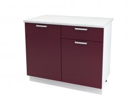 Кухня Мария шкаф нижний 1000 с 1 ящиком ШН1Я 1000 ШхВхГ 1000x840x474 мм