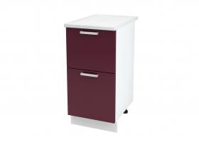 Кухня Мария шкаф нижний 400 с 2 ящиками ШН2Я 400 ШхВхГ 400x840x474 мм
