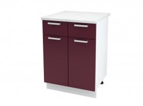 Кухня Мария шкаф нижний 600 с 1 ящиком ШН1Я 600 ШхВхГ 600x840x474 мм