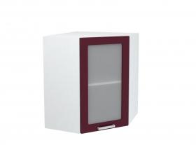 Кухня Мария шкаф верхний 600 угловой со стеклом ШВУС 600 ШхВхГ 600x716x600 мм